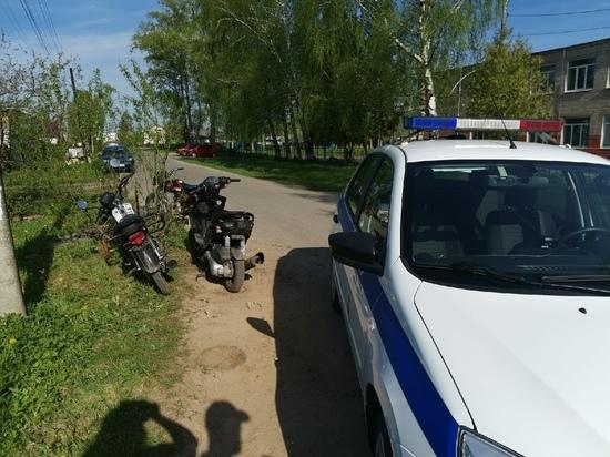 В Тверской области ловили подростков на мотоциклах