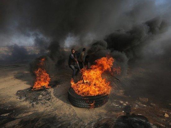 Во всем городе Газа после серии взрывов вырубилось электричество