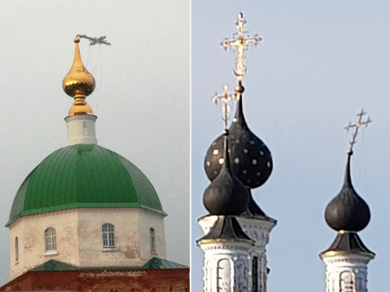 Ураган в Муроме погнул кресты на храмах