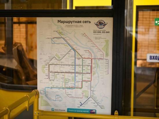 В кировских автобусах появились цветовые схемы пересадок