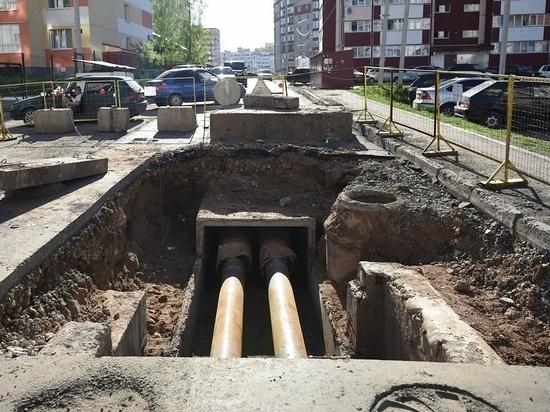 В Кирове разрыли свежий асфальт из-за аварии на сетях