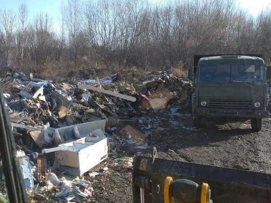 Огромную свалку под Комсомольском-на-Амуре ликвидируют военные