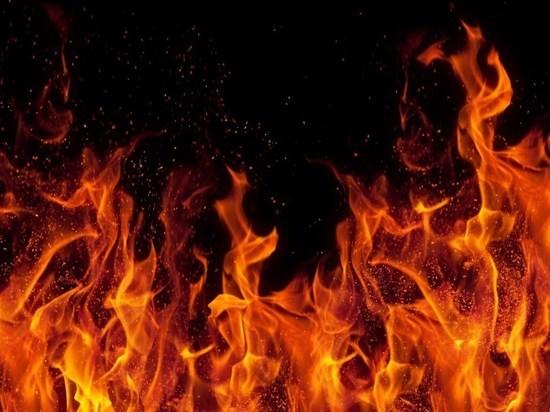 В Плесецком районе горел подъезд деревянного двухэтажного дома