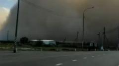 Сильный ветер принес в Астрахань песчаную бурю: видео