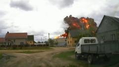Момент катастрофы учебного Як-130 в Белоруссии попал на видео