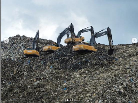 Работы на полигоне Сьяново в Серпухове находятся в активной фазе