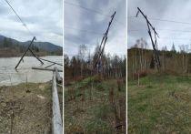 В Хакасии поводковые воды снесли столбы ЛЭП: их восстановили спустя 5 дней