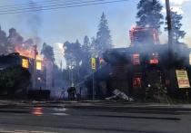 В Кохме крупный пожар уничтожил кафе с летней верандой