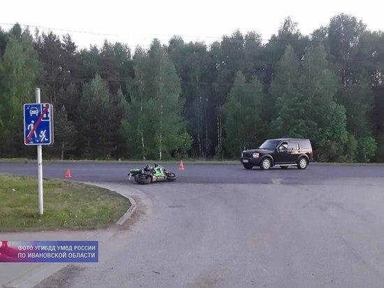 За сутки в Ивановской области три мотоциклиста угодили в ДТП
