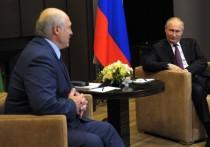 Главы России и Белоруссии Владимир Путин и Александр Лукашенко встретились в Сочи