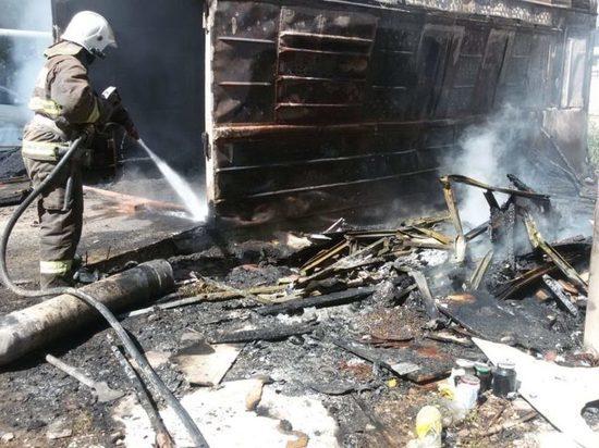 В Холмогорском районе произошёл пожар, никто не пострадал
