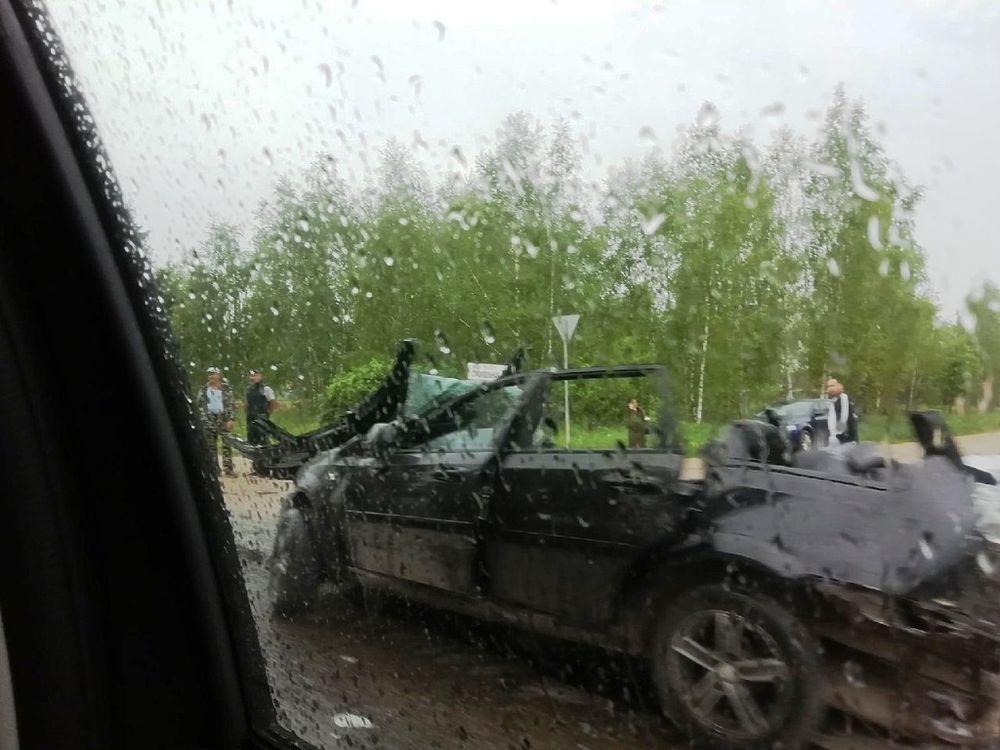 Появились первые кадры смертельного ДТП в Жукове