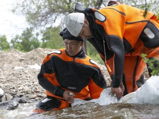Уровень воды Енисея в районе Кызыла подрос на 5 сантиметров