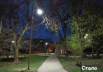 В Калуге в сквере у Палат Коробовых появилось освещение