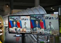 Калужская семья Басыниных пообщалась с Путиным по видеосвязи