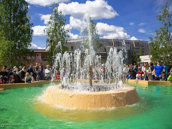 Сезон фонтанов открылся в Петрозаводске