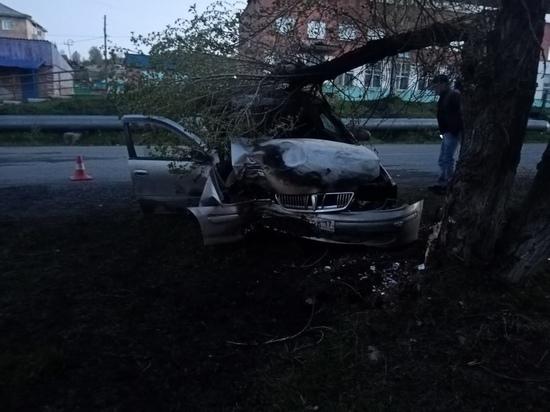 В Хакасии водитель получил несколько переломов после одиночного ДТП