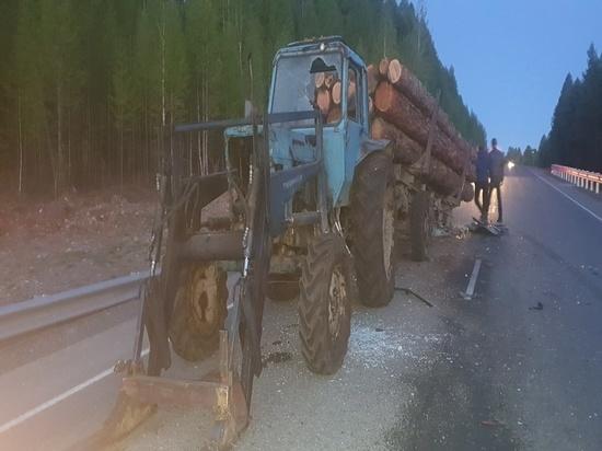 В Туве в результате столкновения иномарки и трактора погибли люди