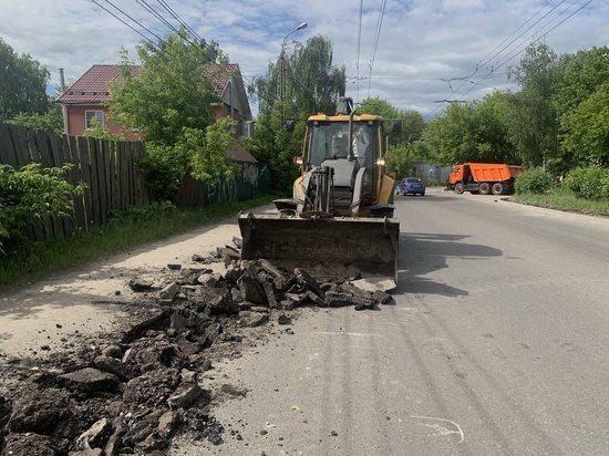 На ул. Сутырина в Сормове начался ремонт участка дороги