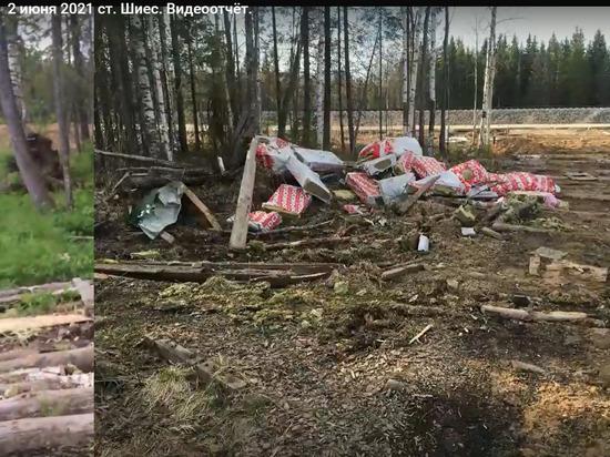 Последствия решения губернатора Орлова и его товарищей из Москвы по устройству гигантского могильника на болотах Ленского района приехали устранять рабочие из Коми.