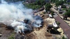 Пожар произошел в промзоне в Вологде: видео
