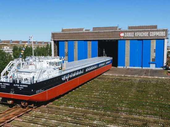 Завод «Красное Сормово» спустил на воду новый сухогруз