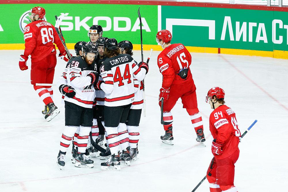 Россия проиграла Канаде и вылетела с ЧМ: фотообзор четвертьфинала