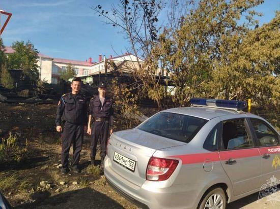 Росгвардейцы спасли детский дом в Алтайском крае от пожара