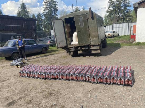 Полицейские Тувы пресекли перевозку пивной продукции в Тоджу