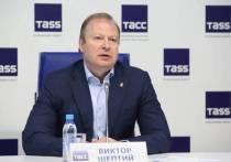 Председатель регионального оргкомитета предварительного голосования Виктор Шептий дал большую пресс-конференцию на площадке пресс-центра ТАСС в Екатеринбурге
