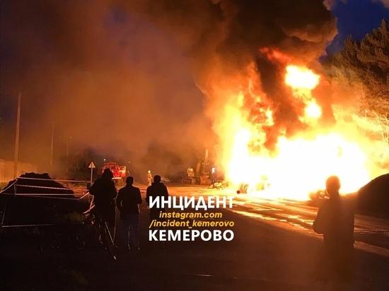 В Кемерове случился крупный пожар около Кардиоцентра