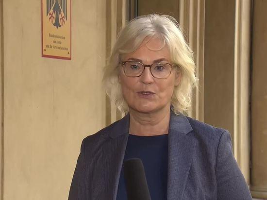 Германия: Министр Кристине Ламбрехт призвала возобновить очное обучение