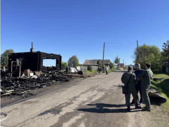 В Кировской области во время пожара погиб двухлетний малыш
