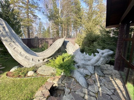Огромный особняк с драконом продается в Барнауле за 90 млн рублей