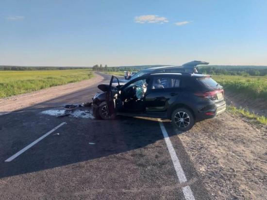 Автомобильная авария с участием двух легковушек произошла вчера, 5 июня, на дороге, соединяющей Долматово с Каргополем.