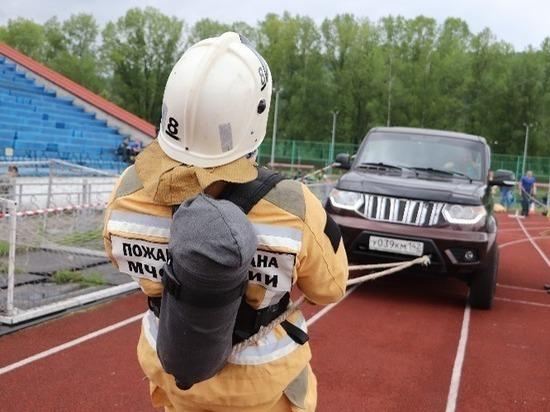 В Междуреченске работают самые сильные пожарные Кузбасса