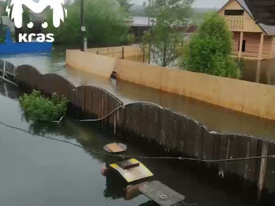 СНТ «Ветеран» под Железногорском Красноярского края полностью затопило