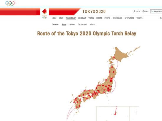 Курилы оказались на карте Японии, но вне маршрута олимпийского огня