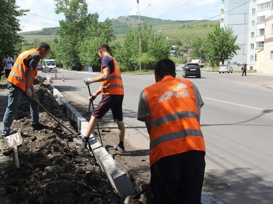 Подрядчик заменит около 10 км некачественно уложенных бордюров в Чите