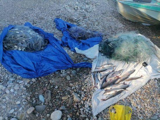 Опергруппа «Сарма» задержала на Байкале браконьеров с восемью сетями