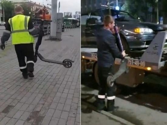 В Челябинске массово увозят электросамокаты на штрафстоянки