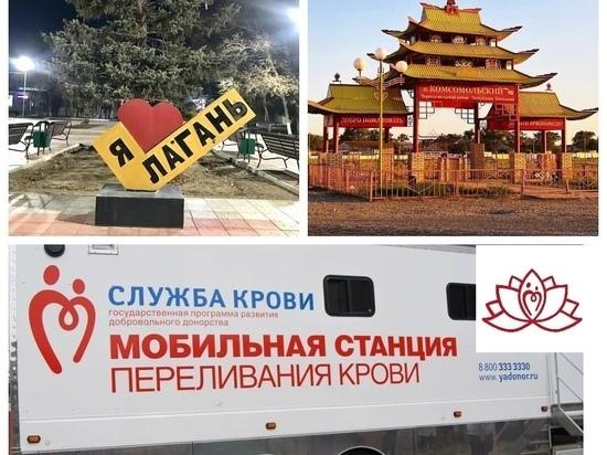 Жители Калмыкии могут сдать кровь в мобильной станции