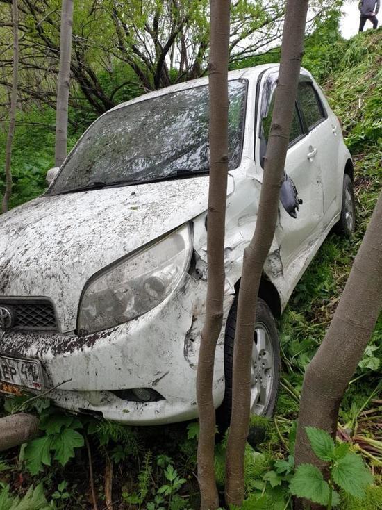 В Петропавловске-Камчатском иномарка улетела под откос
