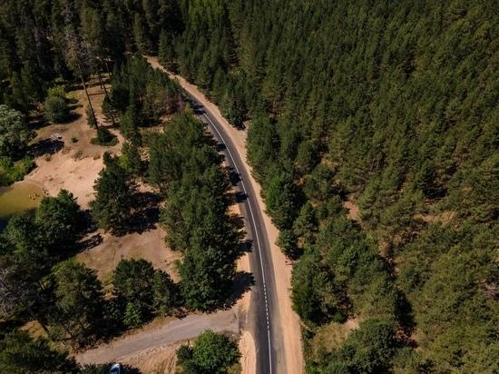 В Марий Эл отремонтирована дорога вокруг озера Яльчик