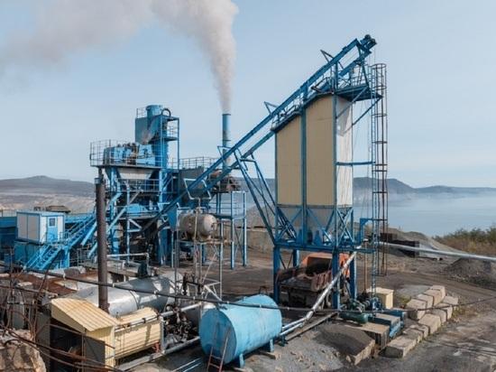 Асфальтобетонный завод заработал в Магадане