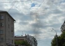 В центре Челябинска вспыхнул пожар