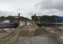 В Сургутском районе установили новый наплавной мост
