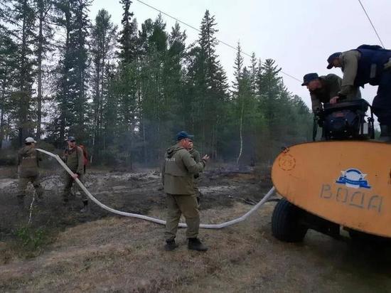 Лесопожарная обстановка в Нюрбинском районе Якутии остаётся сложной