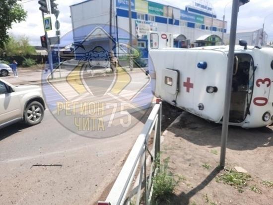 ДТП с участием машины скорой помощи произошло в Борзе