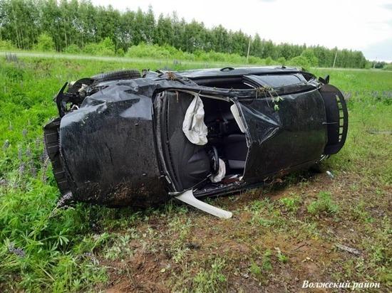 23-летняя девушка пострадала при опрокидывании авто в Марий Эл